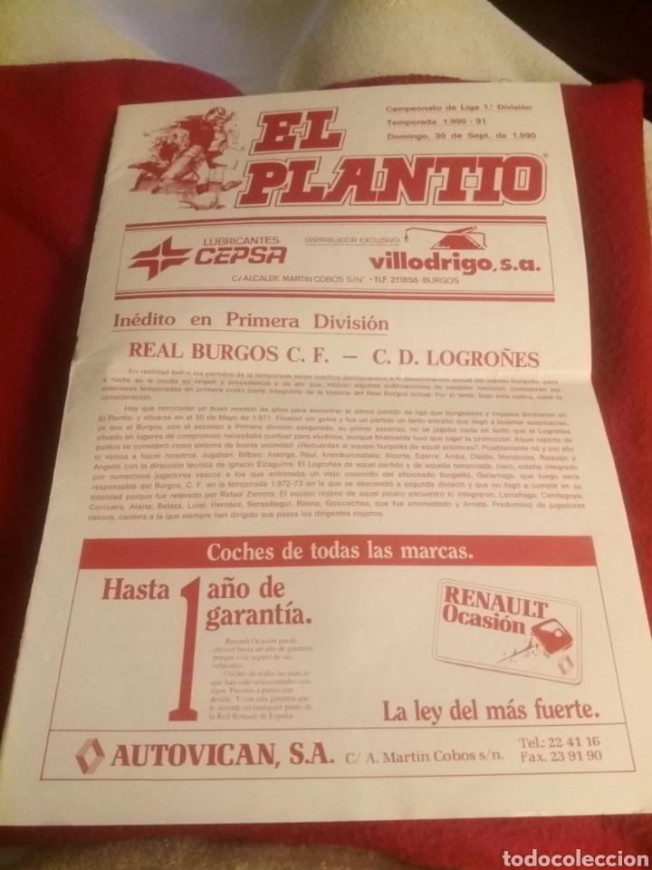 REVISTA EL PLANTÍO. 1990. REFERIDA AL PARTIDO BURGOS - LOGROÑÉS . PREVIA PARTIDO SPORTING GIJÓN. (Coleccionismo Deportivo - Revistas y Periódicos - otros Fútbol)