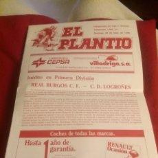 Coleccionismo deportivo: REVISTA EL PLANTÍO. 1990. REFERIDA AL PARTIDO BURGOS - LOGROÑÉS . PREVIA PARTIDO SPORTING GIJÓN.. Lote 219552841