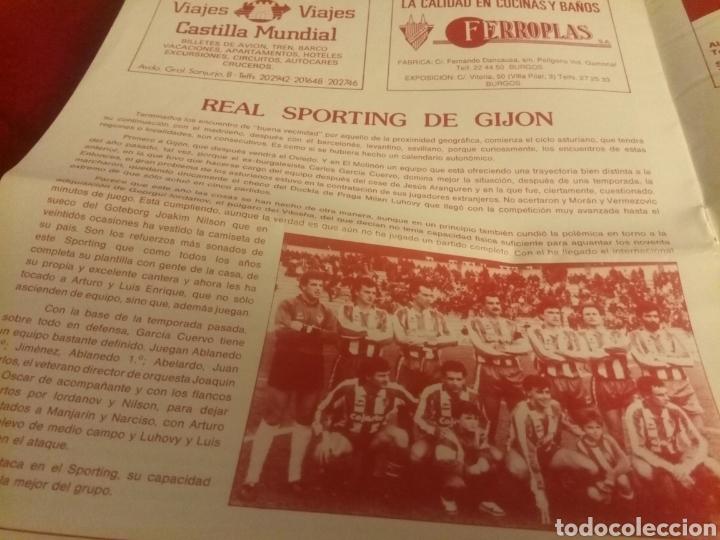 Coleccionismo deportivo: Revista El Plantío. 1990. Referida al partido Burgos - Logroñés . Previa partido Sporting Gijón. - Foto 3 - 219552841