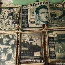 Coleccionismo deportivo: LOTE MÁS DE 100 REVISTAS, PERIÓDICOS BARÇA. AÑOS 50- 60.. Lote 220286016