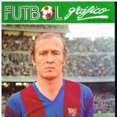 Collezionismo sportivo: FÚTBOL GRÁFICO Nº 15 - PORTADA MARCIAL, POSTER MALAGA C.F. - 1972 - SOLO PORTADA Y CONTRAPORTADA. Lote 220916673