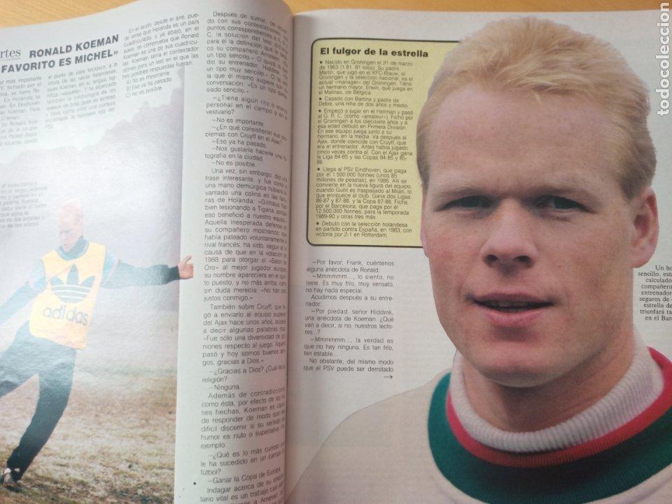 Coleccionismo deportivo: 1989 PSV - REAL MADRID KOEMAN MICHEL: Revista con reportaje Copa de Europa - Foto 2 - 221111193