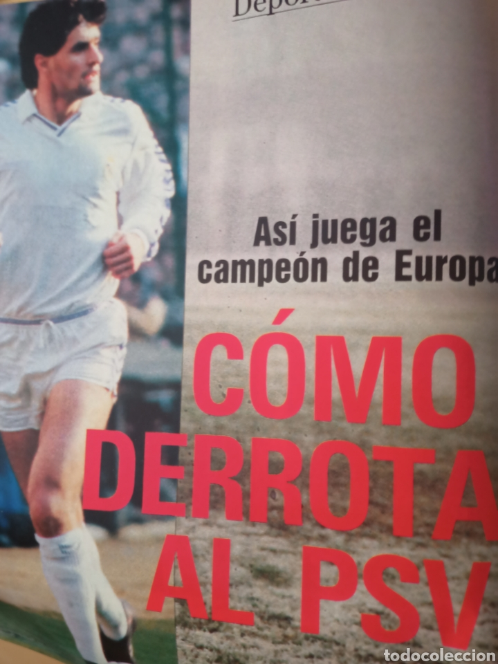 Coleccionismo deportivo: 1989 PSV - REAL MADRID KOEMAN MICHEL: Revista con reportaje Copa de Europa - Foto 3 - 221111193