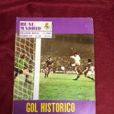 Collectionnisme sportif: REVISTA MENSUAL REAL MADRID 1975 CON PÓSTER. Lote 221303443