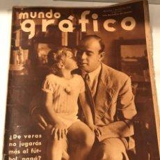 Coleccionismo deportivo: MUNDO GRAFICO 1 JULIO 1936 RICARDO ZAMORA. Lote 221436825