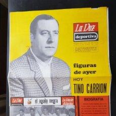 Coleccionismo deportivo: TINO CARRIÓN FIGURAS DEL AYER LA VOZ DEPORTIVA / ASTURIAS ÁLBUM JUGADORES UNO NO CROMOS FÚTBOL 1968. Lote 221488717