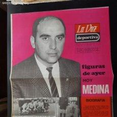 Coleccionismo deportivo: MEDINA FIGURAS DEL AYER LA VOZ DEPORTIVA / ASTURIAS ÁLBUM JUGADORES UNO A UNO NO CROMOS FÚTBOL 1968. Lote 221489826