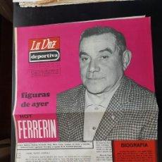 Coleccionismo deportivo: FERRERÍN FIGURAS DEL AYER LA VOZ DEPORTIVA ASTURIAS ÁLBUM JUGADORES UNO A UNO NO CROMOS FÚTBOL 1968. Lote 221490417