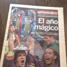 Coleccionismo deportivo: FC BARCELONA. CHAMPIONS 2006. BARÇA-ARSENAL 2-1. EL PERIÓDICO.. Lote 221580050