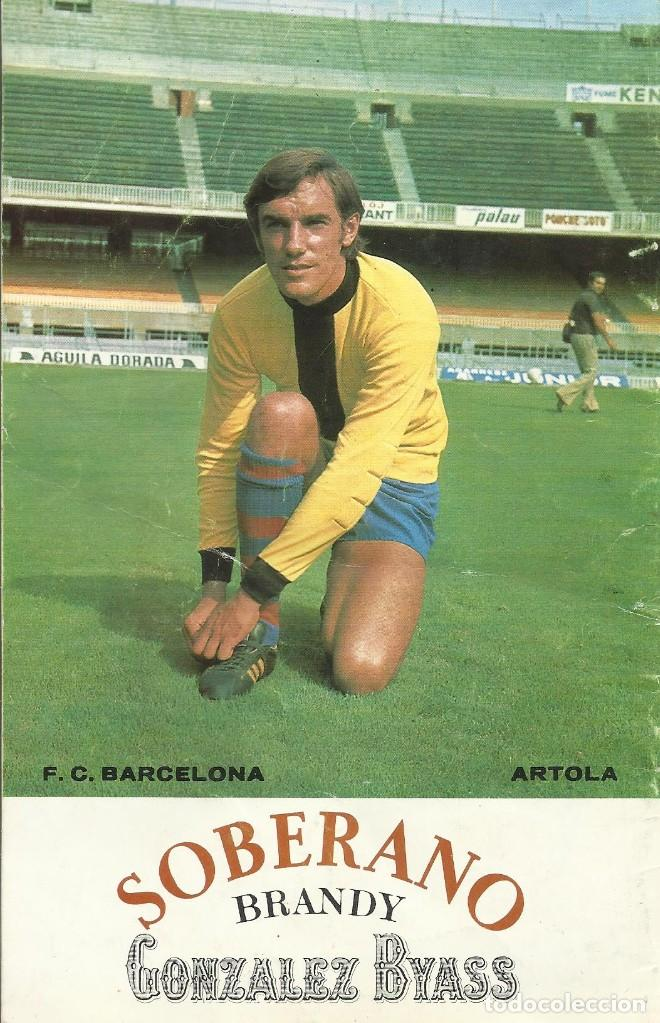 Coleccionismo deportivo: F. C. Barcelona. Programa Oficial. Granada F. C. Artola. 1975. 21x13,5 cm. 24 páginas. Buen estado. - Foto 2 - 221696812
