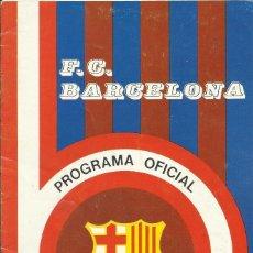Coleccionismo deportivo: F. C. BARCELONA. PROGRAMA OFICIAL. LIVERPOOL F. C. 1975. 21X13,5 CM. 12 PÁGINAS. BUEN ESTADO.. Lote 221697140