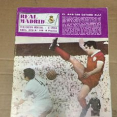 Coleccionismo deportivo: REVISTA OFICIAL REAL MADRID # 239 ABRIL 1970 LA LIGA VALENCIA CAMPEON LIGA BALONCESTO COPA EUROPA. Lote 221866650