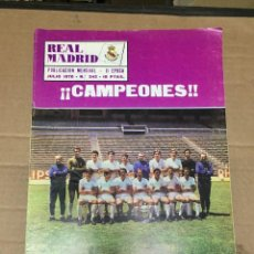 Coleccionismo deportivo: REVISTA OFICIAL REAL MADRID # 242 JULIO 1970 CAMPEONES DE FINAL COPA REAL MADRID 3-1 VALENCIA. Lote 221866926