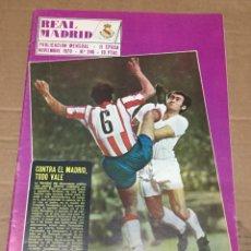 Coleccionismo deportivo: REVISTA OFICIAL REAL MADRID # 246 NOVIEMBRE 1970 LA LIGA EN ACCION JUANITO MONJARDIN HIBERNIANS. Lote 221867301