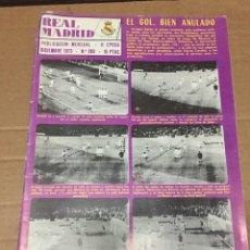 Coleccionismo deportivo: REVISTA OFICIAL REAL MADRID 283 DICIEMBRE 1973 ATLETICO MADRID BALONCESTO OLYMPIQUE FRIBURGO. Lote 221875828