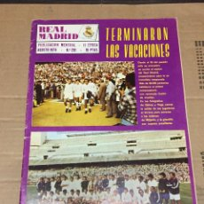 Coleccionismo deportivo: REVISTA OFICIAL REAL MADRID # 291 AGOSTO 1974 ROBERTO MARTINEZ AJAX COPA EUROPA. Lote 221876352