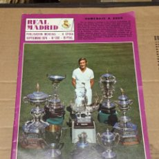 Coleccionismo deportivo: REVISTA OFICIAL REAL MADRID # 292 SEPTIEMBRE 1974 HOMENAJE ZOCO PAUL BREITNER NUEVO FICHAJE. Lote 221876426