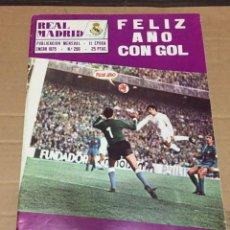 Coleccionismo deportivo: REVISTA OFICIAL REAL MADRID 296 ENERO 1975 SANTILLANA LIGA EN ACCION HOMENAJE A ISIDRO. Lote 221877267