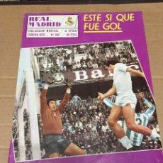 Coleccionismo deportivo: REVISTA OFICIAL REAL MADRID 297 FEBRERO 1975 LIGA EN ACCION MIGUEL ANGEL. Lote 221877356