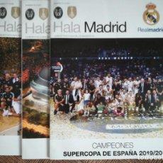 Coleccionismo deportivo: SET REVISTAS HALA MADRID REAL MADRID CON GRANDE PÓSTER LIGA. 2018 - 2020. Lote 221904457