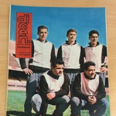 Coleccionismo deportivo: REVISTA DICEN AÑO XI Nº 536 - 26 ABRIL 1963 - DELANTERA CF BARCELONA FCB - PEREDA, ZALDÚA, CAMPS.... Lote 222087365