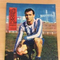 Coleccionismo deportivo: REVISTA DICEN AÑO XI Nº 539 - 17 MAYO 1963 - PAREDES, DELANTERO DEL RCD ESPAÑOL. Lote 222087537