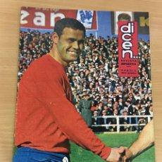 Coleccionismo deportivo: REVISTA DICEN AÑO XIII Nº 595 - 26 JUNIO 1964 - MARCELINO, A LA SELECCIÓN ESPAÑOLA. Lote 222087712