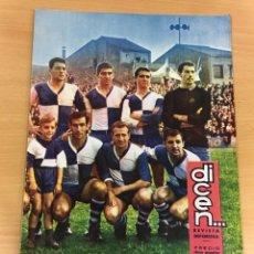 Coleccionismo deportivo: REVISTA DICEN AÑO XIII Nº 596 - 3 JULIO 1964 - CD SABADELL VUELVE A LA SEGUNDA DIVISIÓN. Lote 222087825