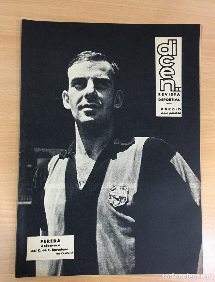 REVISTA DICEN AÑO XI Nº 555 - 20 SEPTIEMBRE 1963 - PEREDA DEL CF BARCELONA Y ENTREVISTA A KUBALA (Coleccionismo Deportivo - Revistas y Periódicos - otros Fútbol)