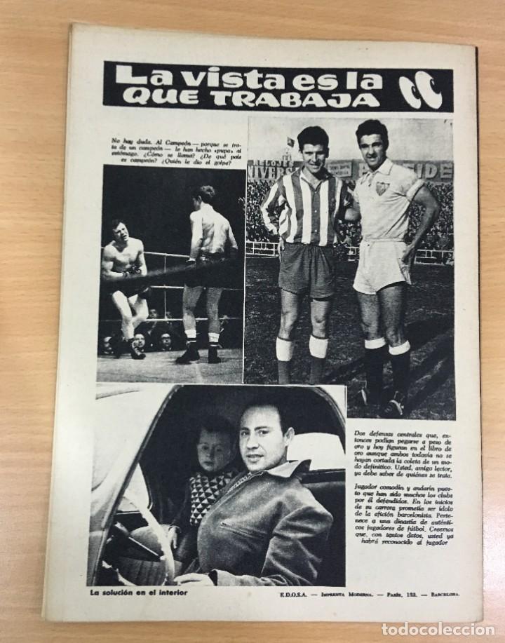 Coleccionismo deportivo: REVISTA DICEN AÑO XI Nº 555 - 20 SEPTIEMBRE 1963 - PEREDA DEL CF BARCELONA Y ENTREVISTA A KUBALA - Foto 3 - 222115357