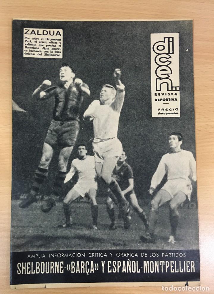 REVISTA DICEN AÑO XI Nº 556 - 27 SEPTIEMBRE 1963 - CF BARCELONA VS. SHELBORNE (Coleccionismo Deportivo - Revistas y Periódicos - otros Fútbol)