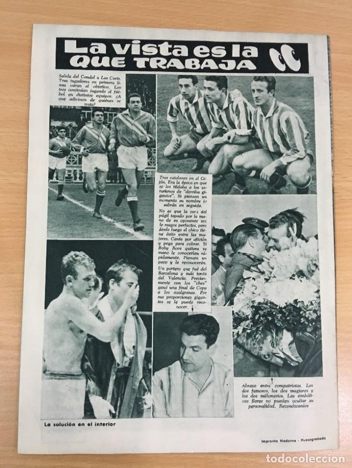 Coleccionismo deportivo: REVISTA DICEN AÑO IX Nº 373 - 23 ENERO 1960 - EVARISTO DEL CF BARCELONA EN MANOS DE MUR - FCB - Foto 3 - 222116877