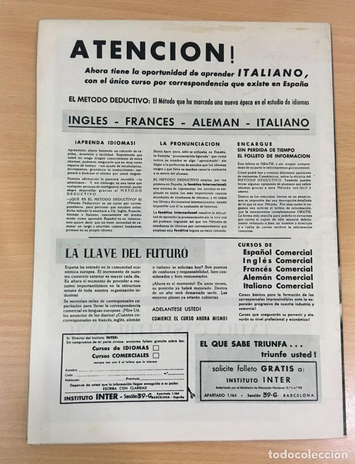 Coleccionismo deportivo: REVISTA DICEN AÑO VIII Nº 365 - 28 NOVIEMBRE 1959 - CF BARCELONA 5 AC MILAN 1 - FCB - Foto 3 - 222119185