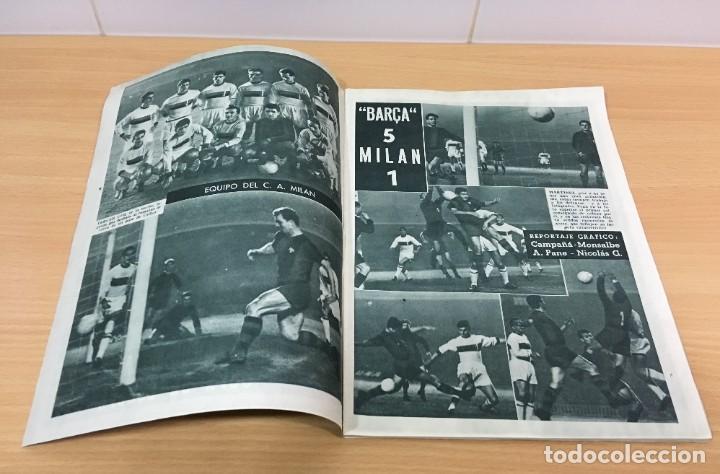 Coleccionismo deportivo: REVISTA DICEN AÑO VIII Nº 365 - 28 NOVIEMBRE 1959 - CF BARCELONA 5 AC MILAN 1 - FCB - Foto 4 - 222119185