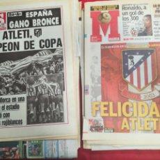 Coleccionismo deportivo: LOTE DE 37 PERIÓDICOS Y REVISTAS DEL ATLÉTICO DE MADRID CAMPEÓN DE TITULOS. Lote 222203420