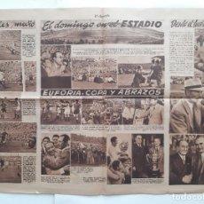 Coleccionismo deportivo: FUTBOL 1946 REAL MADRID CAMPEON DE LA COPA DEL GENERALISIMO. Lote 222225880