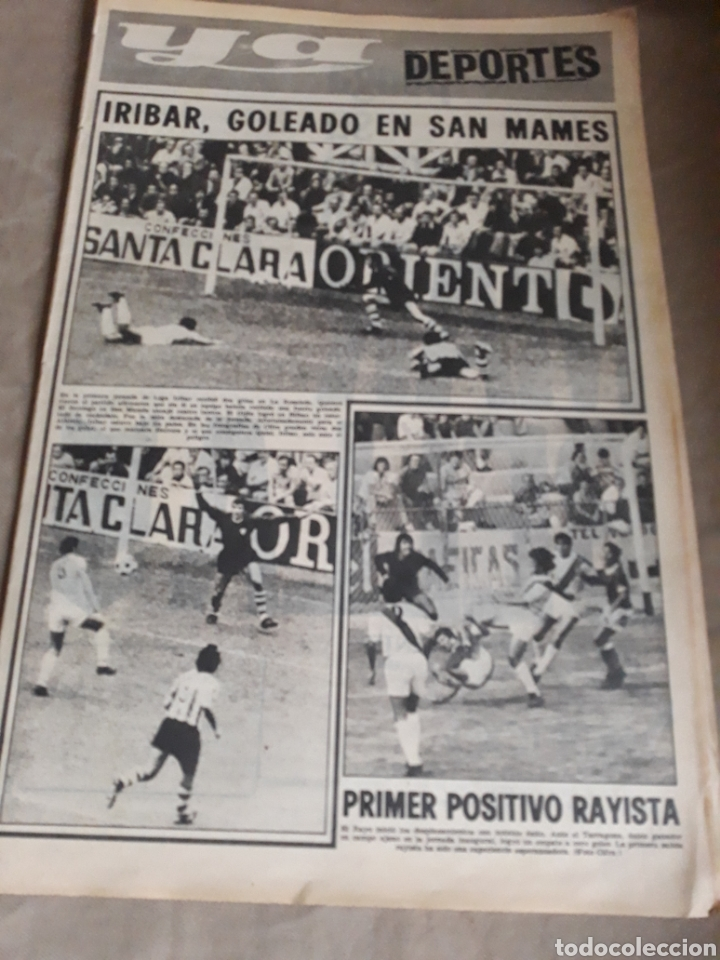 YA DEPORTES . IRIBAR GOLEADO EN SAN MAMES. ROBERTO MARTÍNEZ. 16 DE SEPTIEMBRE DE 1974 ..44 PAGINAS. (Coleccionismo Deportivo - Revistas y Periódicos - otros Fútbol)