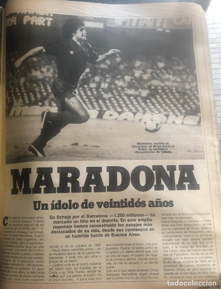 REPORTAJE DE PRENSA ORIGINAL AÑO 1982 SOBRE EL FUTBOLISTA ARGENTINO MARADONA. 7 PÁGINAS. (Coleccionismo Deportivo - Revistas y Periódicos - otros Fútbol)