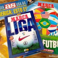Coleccionismo deportivo: LOTE 3 GUIA MARCA AS FUTBOL MUNDIAL 94 LIGA 97 - 98 REAL MADRID BARCELONA SELECCION ESPAÑOLA REVISTA. Lote 222412252