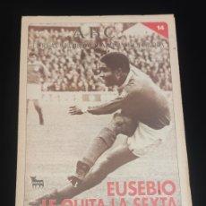 Coleccionismo deportivo: EL REAL MADRID,CAMPEON DE EUROPA,PERIODICO ABC, N° 14. EUSEBIO LE QUITA LA SEXTA.. Lote 222570660