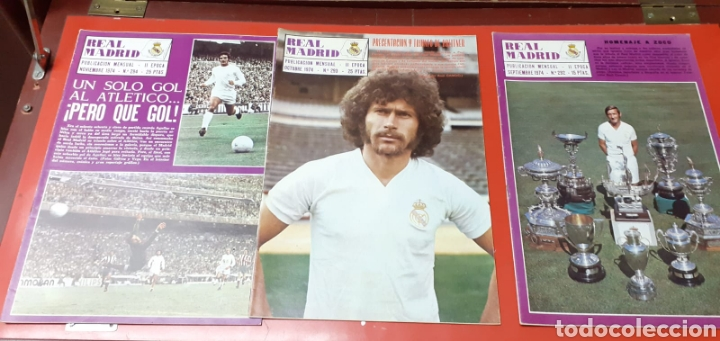 Coleccionismo deportivo: Lote antiguas revistas oficiales Real Madrid - Foto 7 - 222603503