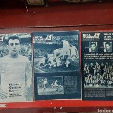 Coleccionismo deportivo: LOTE ANTIGUAS REVISTAS OFICIALES REAL MADRID. Lote 222603503