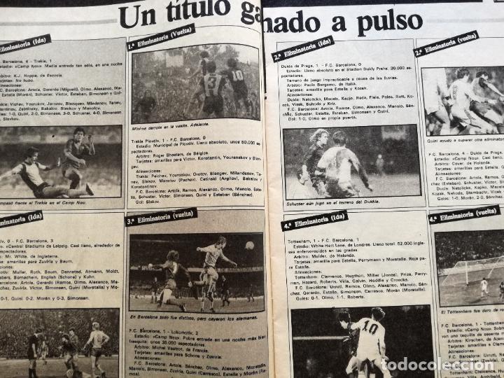 Coleccionismo deportivo: RB REVISTA BARCELONISTA BARÇA Nº 31 1982 879 FC BARCELONA ESPECIAL CAMPEON RECOPA DE EUROPA 81/82 - Foto 5 - 222621975