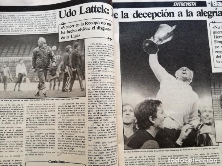 Coleccionismo deportivo: RB REVISTA BARCELONISTA BARÇA Nº 31 1982 879 FC BARCELONA ESPECIAL CAMPEON RECOPA DE EUROPA 81/82 - Foto 6 - 222621975