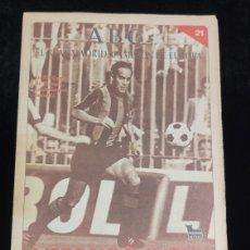 Coleccionismo deportivo: EL REAL MADRID,CAMPEON DE EUROPA,PERIODICO ABC, N° 21. VERDUGO INTER.. Lote 222636833