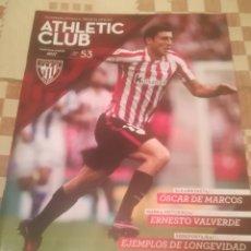 Coleccionismo deportivo: REVISTA OFICIAL ATHLETIC CLUB DE BILBAO.Nº53.MARZO 2017.DE MARCOS, VALVERDE.... Lote 222716328