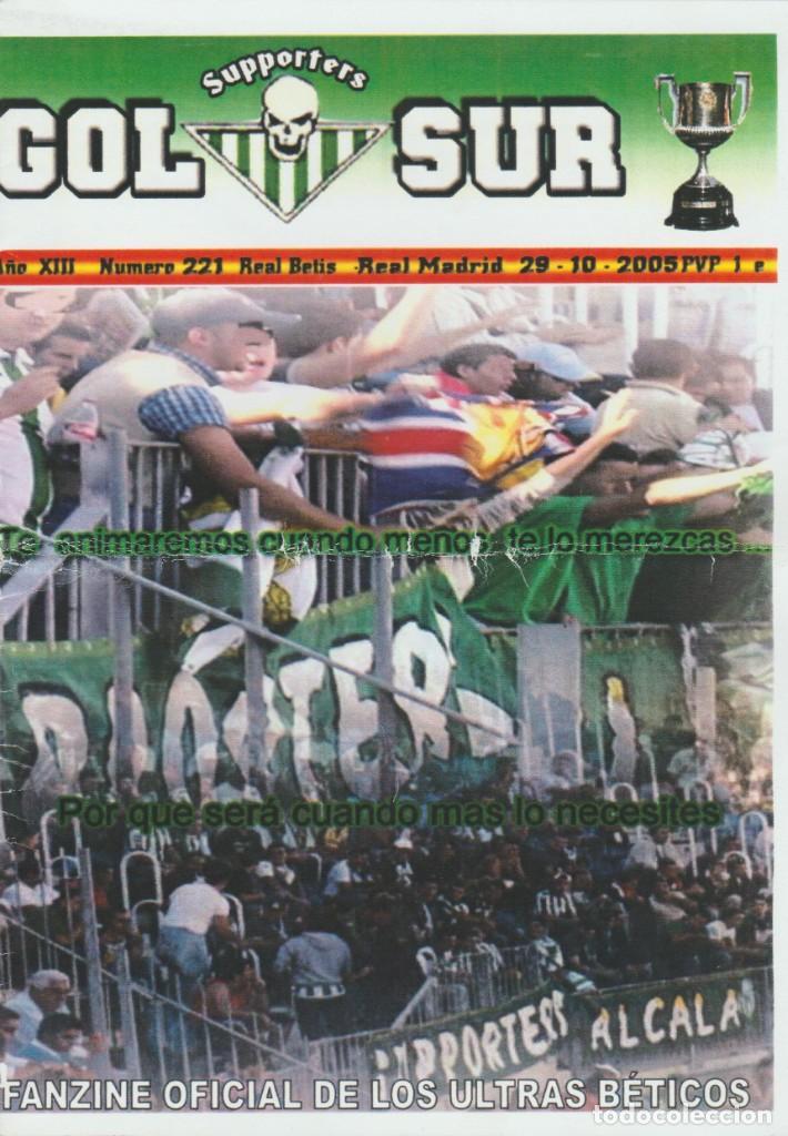 FANZINE SUPPORTERS GOL SUR NÚMERO 221 REAL BETIS ULTRAS HOOLIGANS (Coleccionismo Deportivo - Revistas y Periódicos - otros Fútbol)