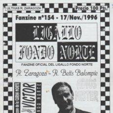 Collectionnisme sportif: FANZINE LIGALLO FONDO NORTE 154 REAL ZARAGOZA ULTRAS HOOLIGANS. Lote 223027508