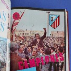 Coleccionismo deportivo: TOMO ATLETICO DE MADRID CAMPEON LIGA 1969-1970 AÑO COMPLETO 12 REVISTA OFICIAL ATLETI 69 70. Lote 223056521