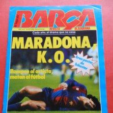 Coleccionismo deportivo: REVISTA BLAUGRANA LA SAGA DEL BARÇA Nº 10 1983 POSTER SCHUSTER FC BARCELONA - MARADONA REXACH. Lote 223092235